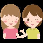 友達/おしゃべり/女性2人のイラスト