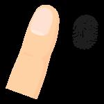 指と指紋/指紋認証のイラスト