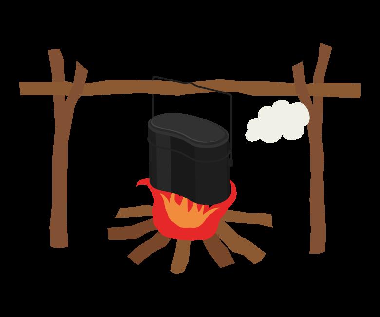 飯ごう/キャンプのイラスト
