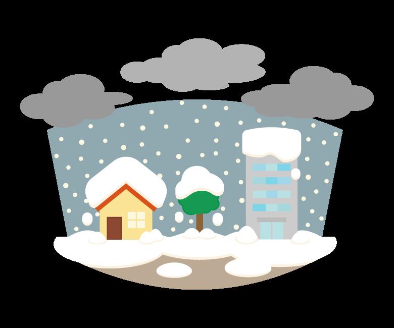 大雪/豪雪のイラスト
