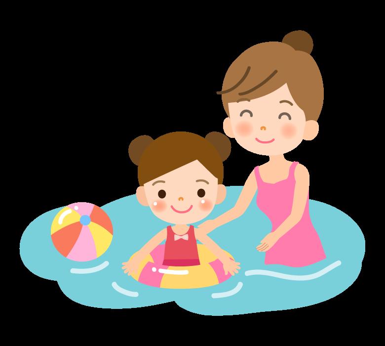海水浴/夏休みのイラスト