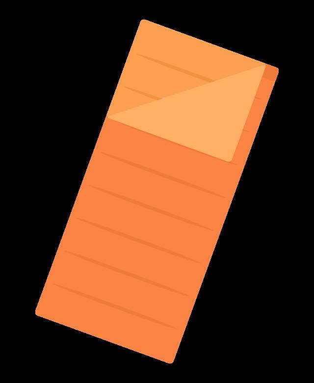 寝袋(封筒型)のイラスト