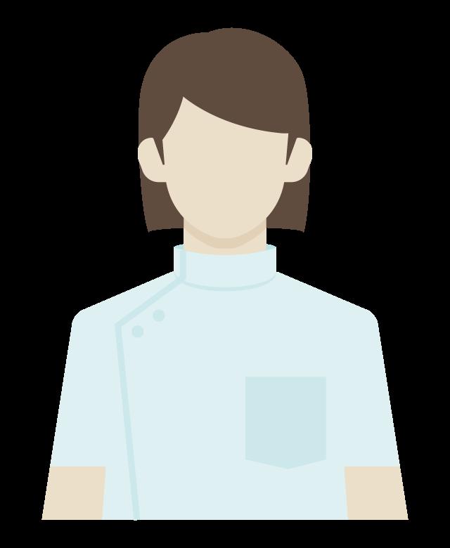 女性の看護師/介護福祉士のイラスト