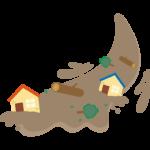土砂災害/土砂崩れのイラスト