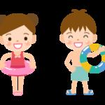 水着の子どもたちのイラスト