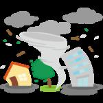 竜巻/災害のイラスト