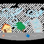 暴風雨/嵐のイラスト