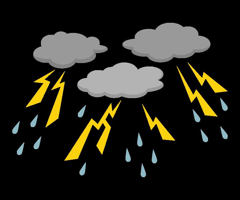 雷雨/ゲリラ豪雨のイラスト