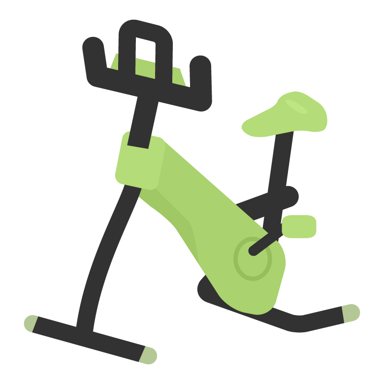 エアロバイクのイラスト