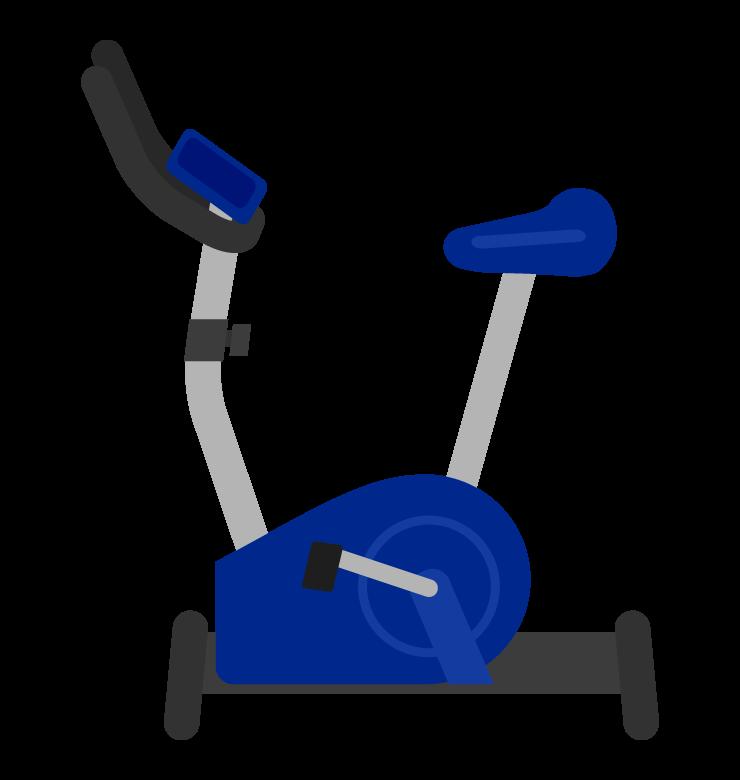 エアロバイク(横アングル)のイラスト