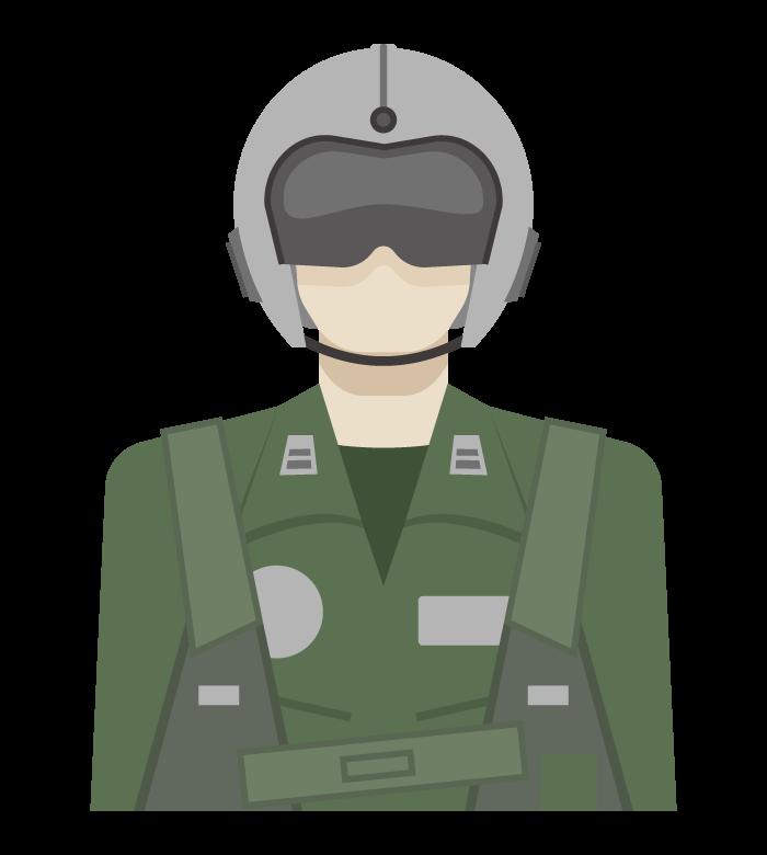 航空自衛隊員のイラスト