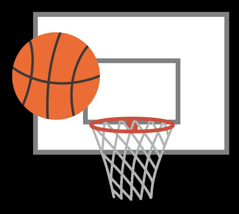 バスケットボール/ゴールのイラスト