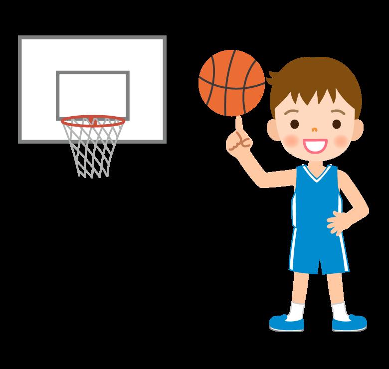 バスケットボール/男の子のイラスト