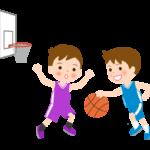 バスケットボール/子ども/試合のイラスト