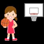 バスケットボール/女の子のイラスト