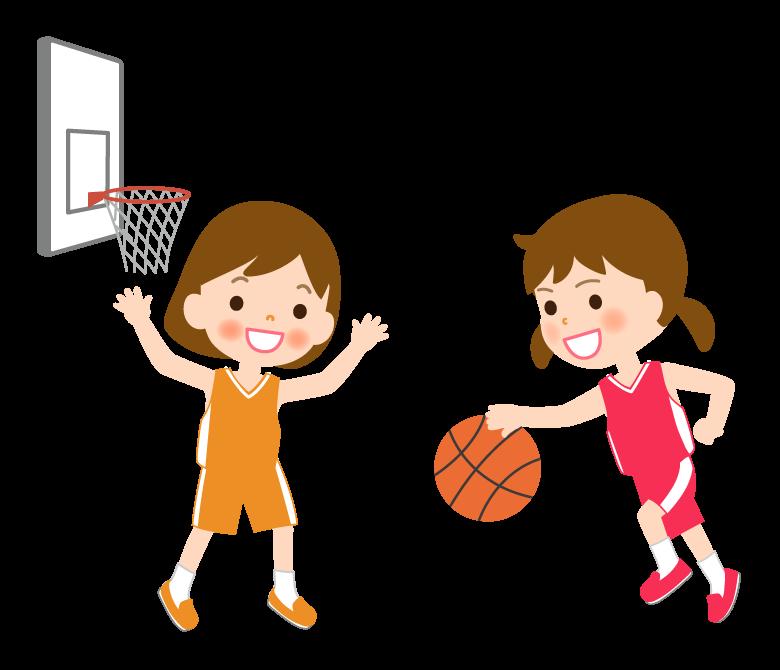 バスケットボール/女の子/試合のイラスト