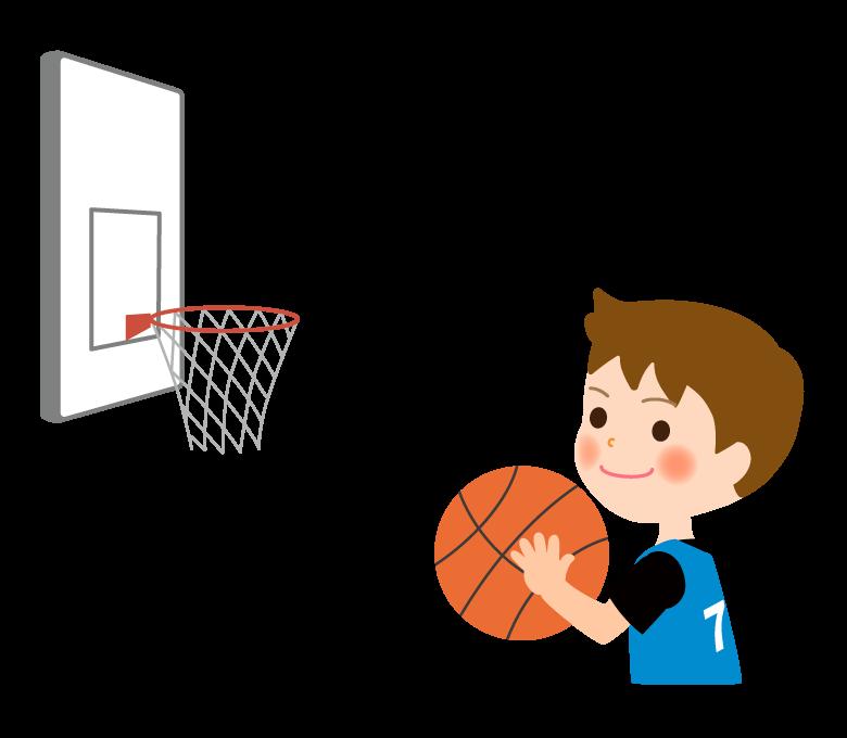 バスケットボール/男の子のイラスト02