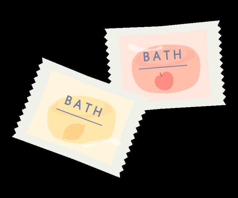 入浴剤(固形)のイラスト