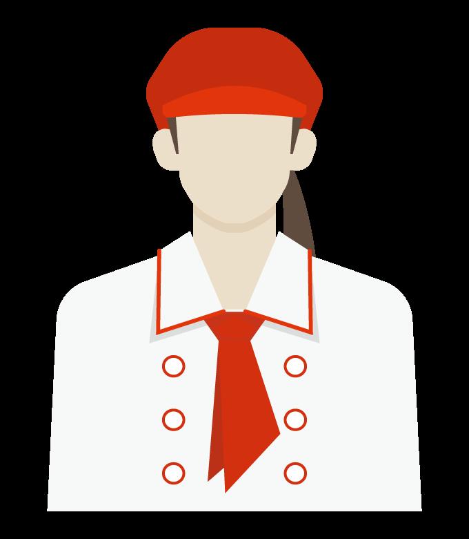 カフェ/ベーカリーショップ店員/女性のイラスト