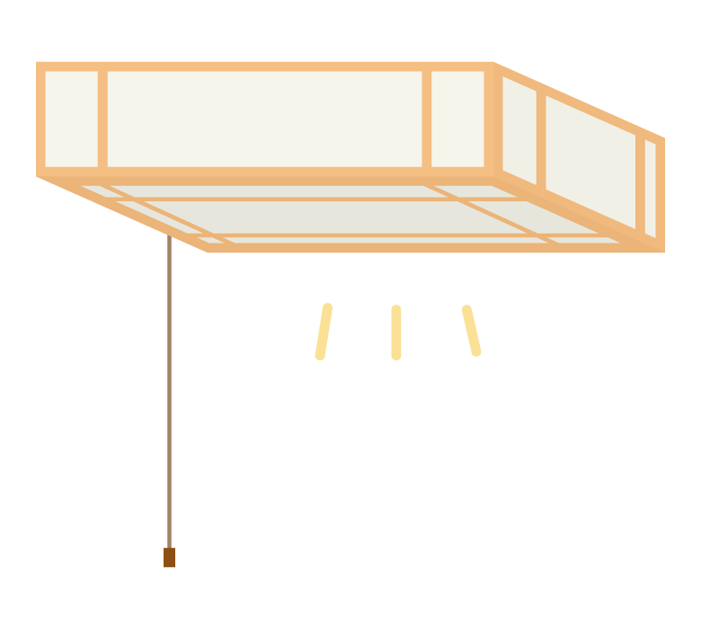 シーリングライト/天井照明のイラスト