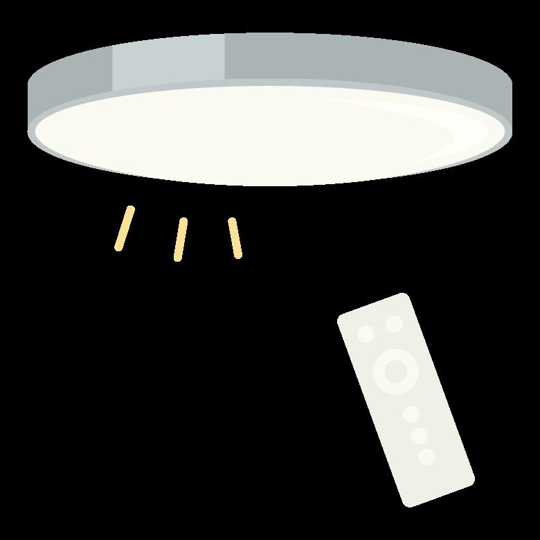 シーリングライト/リモコンのイラスト