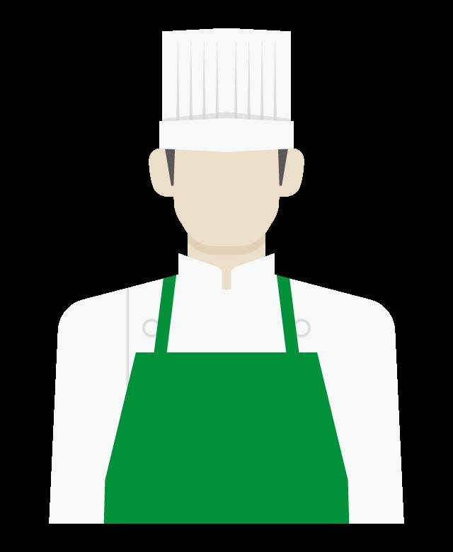 コック/料理人/男性のイラスト