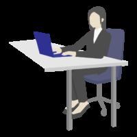 女性会社員/デスクワークのイラスト02