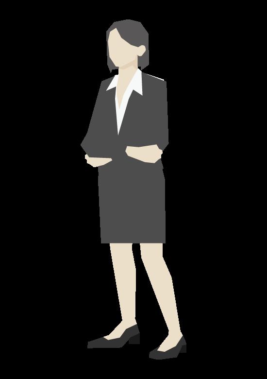 女性会社員/立ち姿のイラスト