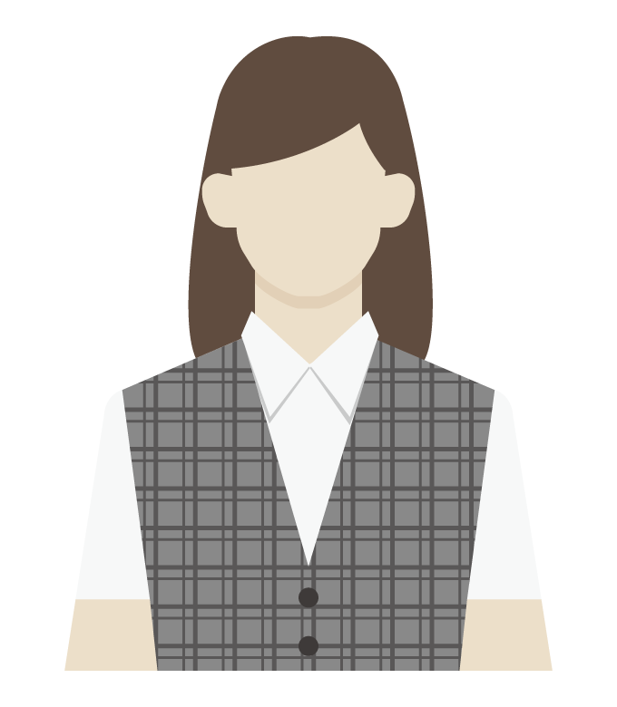 女性の事務員/会社員のイラスト