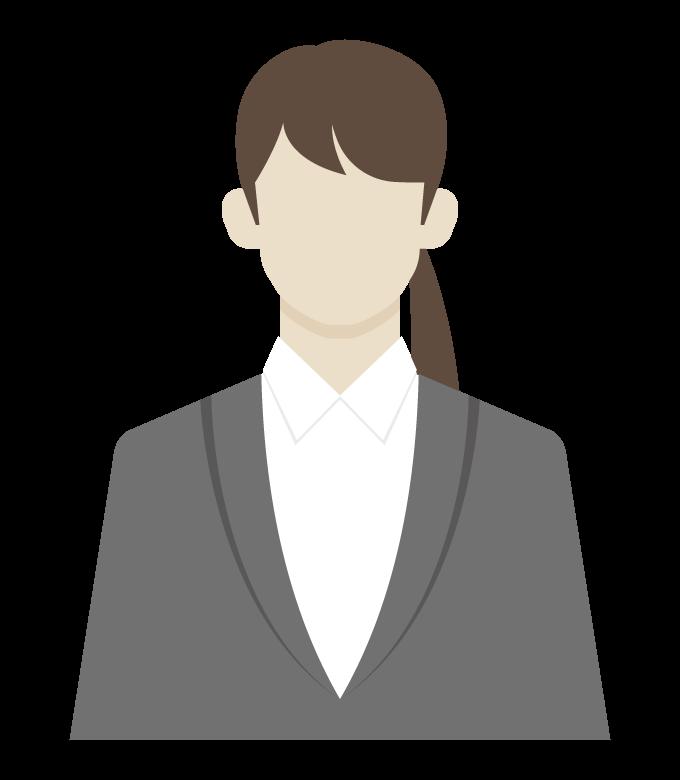 女性会社員/事務職のイラスト