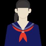 学生/女子/セーラー服のイラスト