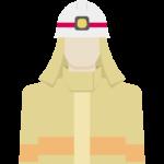 防火服を着た消防隊員のイラスト