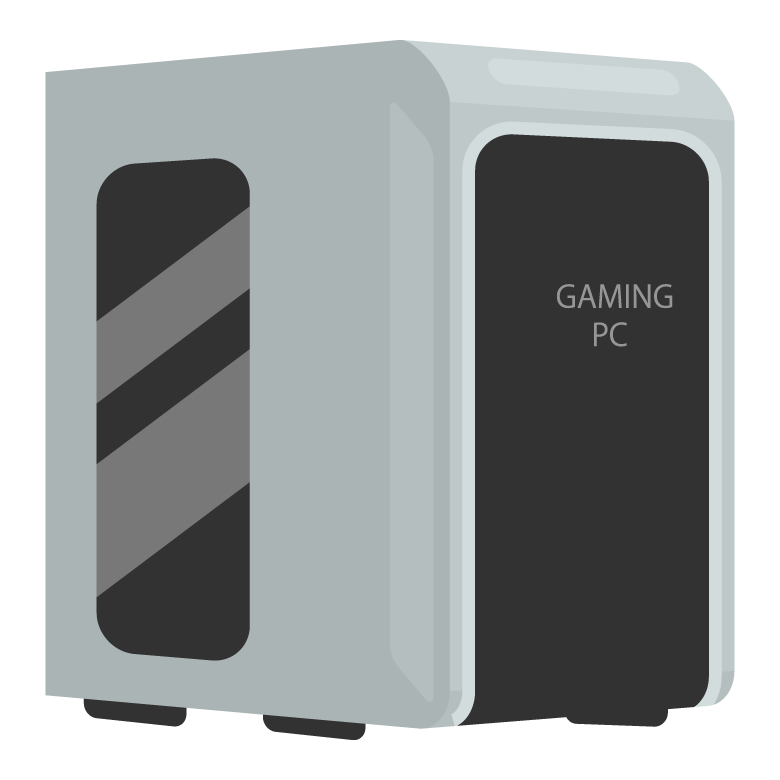 ゲーミングPCのイラスト