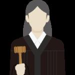 裁判官/女性性のイラスト
