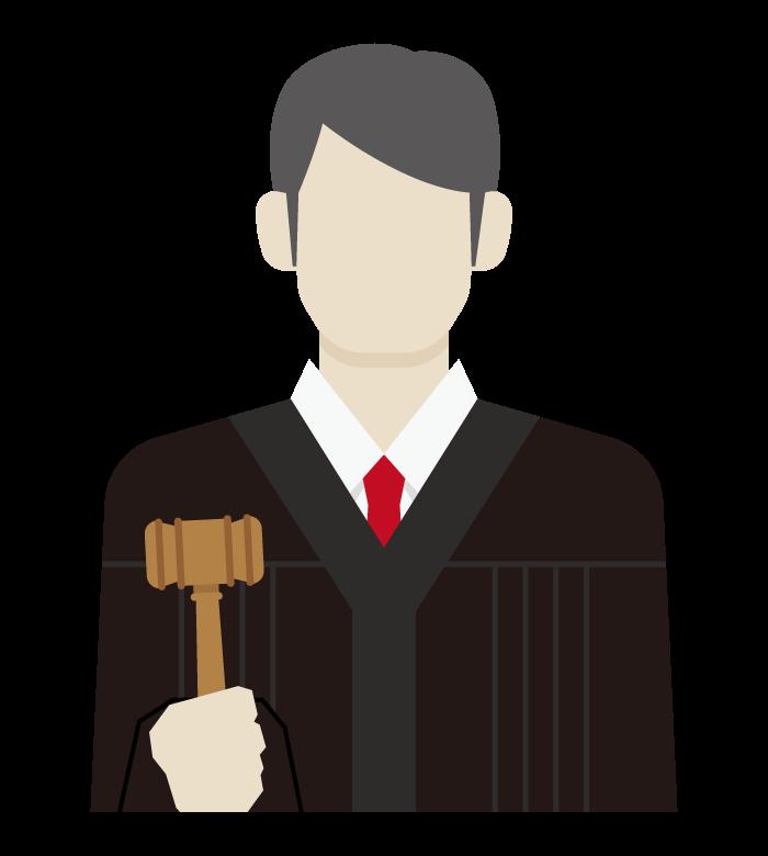 裁判官/男性のイラスト