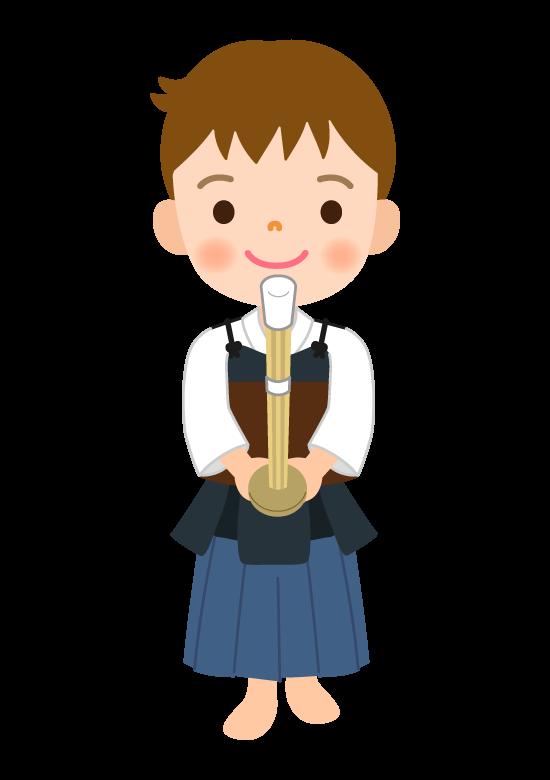剣道/男の子のイラスト