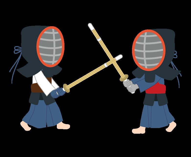 子どもの剣道のイラスト
