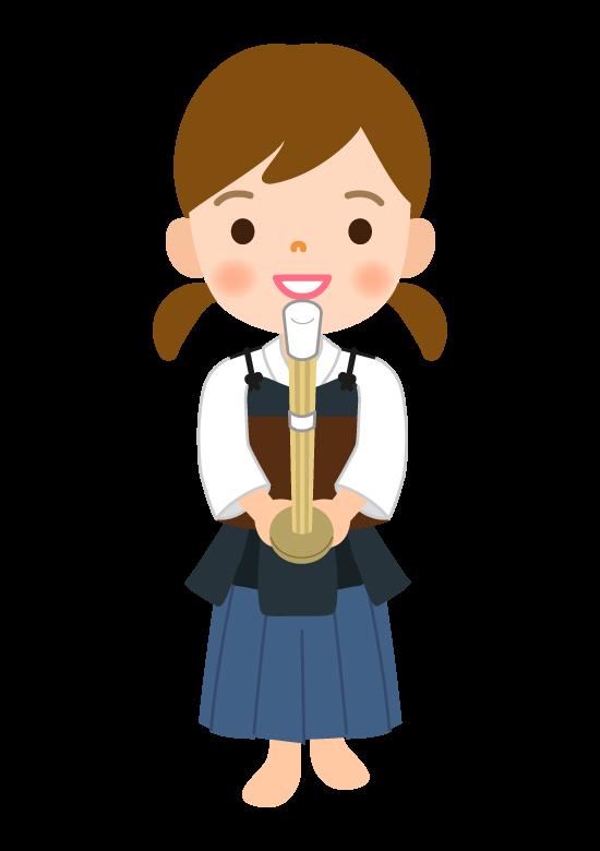 剣道/女の子のイラスト