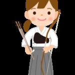 弓道/女の子のイラスト