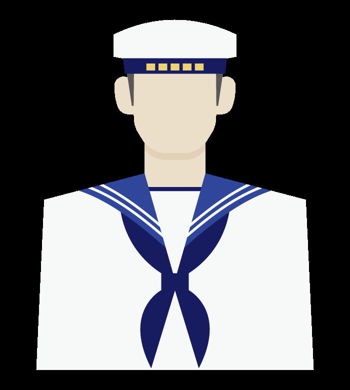 海上自衛隊員のイラスト