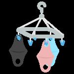ウレタンマスク/洗濯/干すのイラスト