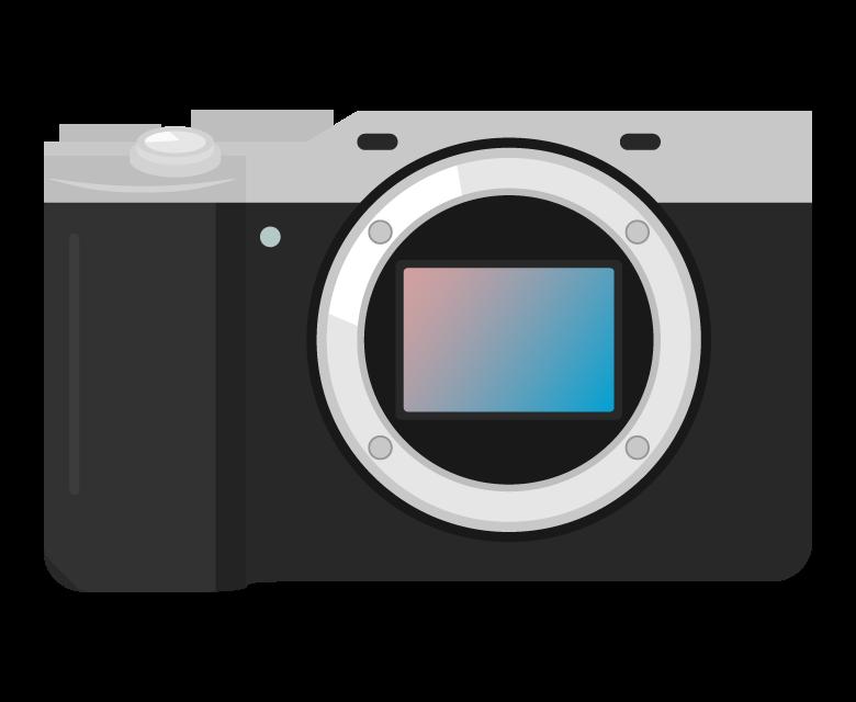 コンパクトなミラーレスカメラのイラスト