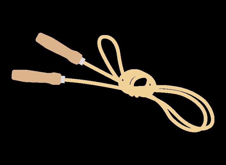 縛ってある縄跳びのイラスト
