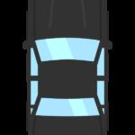 真上アングルの自動車のイラスト