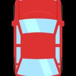 真上アングルの自動車のイラスト02