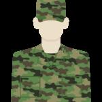 陸上自衛隊員のイラスト