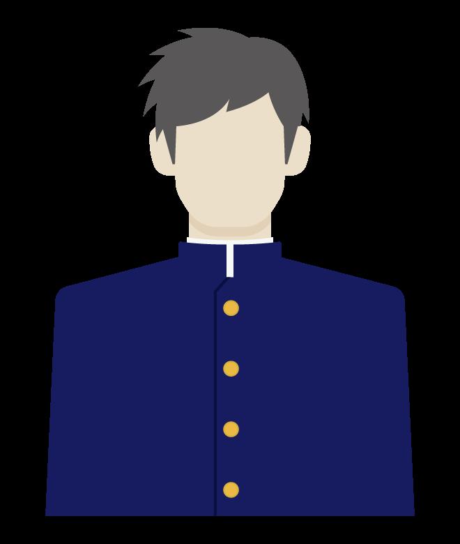 学生/男子/学生服のイラスト