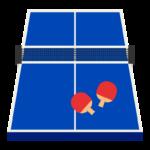 卓球ラケット/卓球台のイラスト