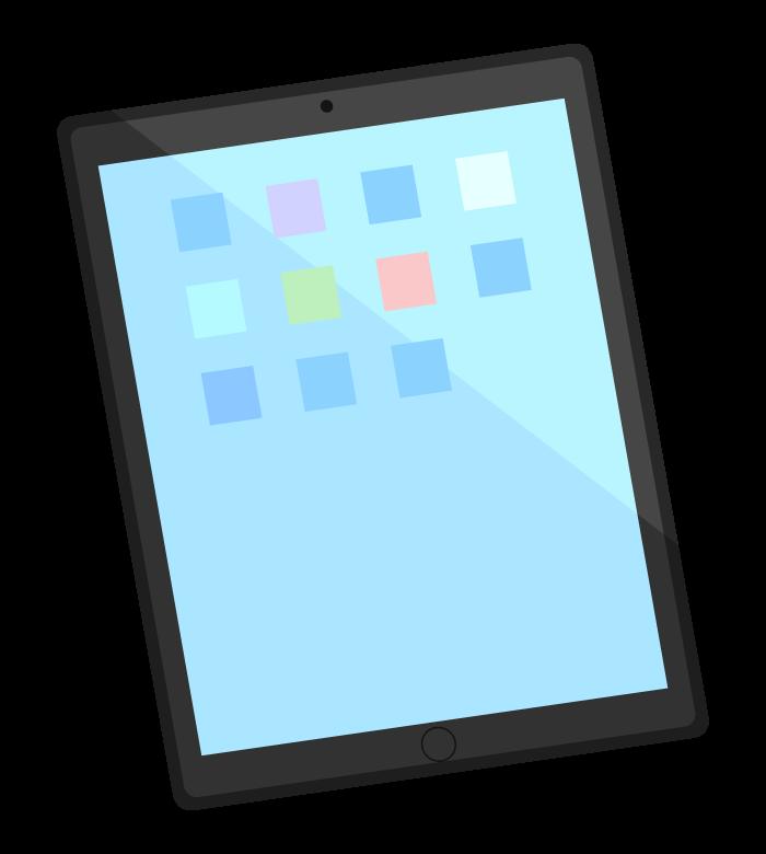 タブレットとアプリのイラスト