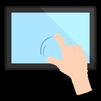 タブレット操作/スワイプ/ジェスチャーのイラスト